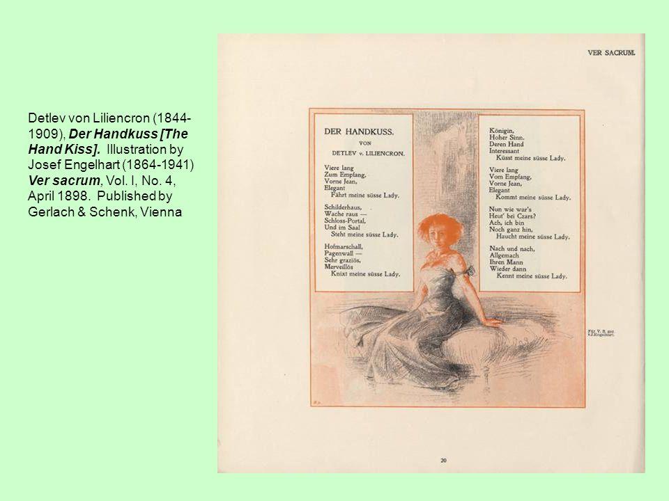 Detlev von Liliencron (1844-1909), Der Handkuss [The Hand Kiss]